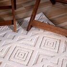 Borrero Diamond Ivory Indoor/Outdoor Area Rug Rug Size: Rectangle 5'1