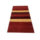 One-of-a-Kind Greentop Gabbeh Hand-Knotted 3' x 5'6