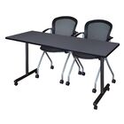 Marin Training Table Tabletop Finish: Gray, Size: 29