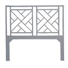 Olga Chippendale Open-Frame Headboard Color: Light Gray, Size: Queen