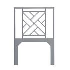 Olga Chippendale Open-Frame Headboard Size: Twin, Color: Light Gray