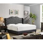 Nobhill Upholstered Panel Bed Size: Queen, Color: Black