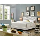Lorenz Upholstered Panel Bed Size: California King, Color: White