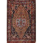 One-of-a-Kind Sarouk Floral Traditional Farahan Persian Hand-Knotted 2'10