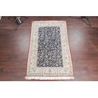 One-of-a-Kind Nain Habibian Floral Traditional Persian Hand-Knotted 5'4