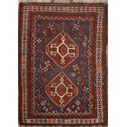 One-of-a-Kind Shiraz Abadeh Traditional Persian Hand-Knotted 3'10