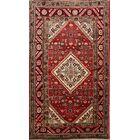 One-of-a-Kind Geometric Zanjan Geometric Traditional Persian Hand-Knotted 3'11