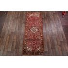One-of-a-Kind Geometric Tribal Vintage Persian Hand-Knotted 3'9