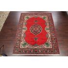 One-of-a-Kind Fowlkes Geometric Tabriz Persian Traditional Hand-Knotted 8'2