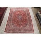 One-of-a-Kind Traditional Mashad Persian Hand-Knotted 9'7