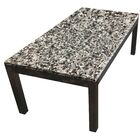 Lakes Parsons Coffee Table Table Top Color: Blanco Puro, Table Base Color: White Wood