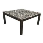 Lakes Parsons Coffee Table Table Base Color: Dark Wood, Table Top Color: Gray