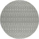 Bourke Modern Gray/Charcoal Indoor/Outdoor Area Rug Rug Size: Round 7'8''