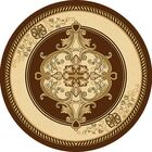 Ramsel 3D Traditional Oriental Floral Chocolate Area Rug Rug Size: Round 7'9