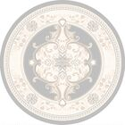 Ramsel 3D Traditional Oriental Floral Frost Area Rug Rug Size: Round 7'9