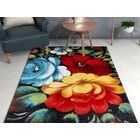 Viva Congratulations Black/Red Area Rug Rug Size: Rectangle 5'3