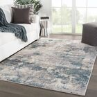 Middlebury Abstract Blue/Cream Area Rug Rug Size: Runner 2'3