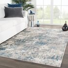 Andrews Abstract Blue/Gray Area Rug Rug Size: Rectangle 5'3