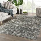 New Canaan Floral Gray Area Rug Rug Size: Rectangle 8'10