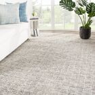 Hamm Geometric Hand-Knotted Wool Ivory/Black Area Rug Rug Size: Rectangle 5' x 8'