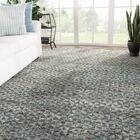 Hammond Geometric Hand-Knotted Wool Gray/Black Area Rug Rug Size: Rectangle 8'10