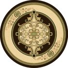 Ramsel 3D Traditional Oriental Floral Pistachio Area Rug Rug Size: Round 7'9