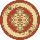 Ramsel 3D Traditional Oriental Floral Terracotta Area Rug Rug Size: Round 7'9