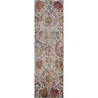 Burnie Oriental Ivory/Orange Area Rug Rug Size: Runner 2'4