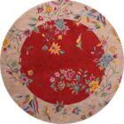 One-of-a-Kind Bridger Hand-Tufted Wool Beige/Orange Area Rug Rug Size: Round 10