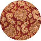 One-of-a-Kind Tadeo Hand-Tufted Wool Red/Burgundy Area Rug Rug Size: Round 10