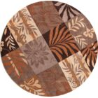 One-of-a-Kind Yahya Hand-Tufted Wool Brown Area Rug Rug Size: Round 10