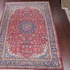 One-of-a-Kind Najafabad Vintage Isfahan Persian Traditional Hand-Knotted 9'2