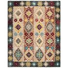 Popp Hand-Tufted Wool Beige/Charcoal Area Rug Rug Size: Rectangle 8' X 10'
