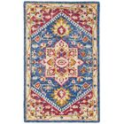 Posner Hand-Tufted Wool Navy/Fuchsia Area Rug Rug Size: Rectangle 3' X 5'