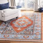 Preble Vintage Persian Cotton Rust/Blue Area Rug Rug Size: Rectangle 5' X 7'6