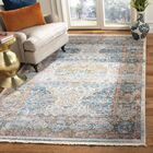Presswood Vintage Persian Cotton Beige/Blue Area Rug Rug Size: Rectangle 5' X 7'6