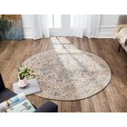 Frannie Distressed Handwoven Flatweave Cream Area Rug Rug Size: Round 6'
