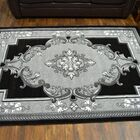 Ramsel 3D Traditional Oriental Floral Gray Area Rug Rug Size: Rectangle 9'2