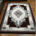 Ramsel 3D Traditional Oriental Floral Mahogany Area Rug Rug Size: Rectangle 5'2