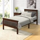 Leander Wood Twin Platform Bed Color: Espresso