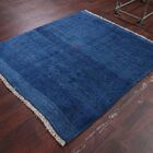 One-of-a-Kind Traditional Gabbeh Shiraz Persian Hand-Knotted 5'3