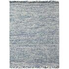 Louth Casual Handwoven Wool/Cotton Blue Area Rug Rug Size: Rectangle 3' x 5'