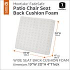 Hubbert Outdoor Dining Chair Cushion Size: 4