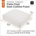 Hubbert Outdoor Dining Chair Cushion Size: 5
