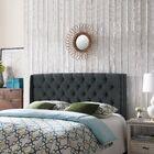 Riley Upholstered Wingback Headboard Upholstery: Dark Gray/Black