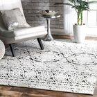 Beckville Black/White Area Rug Rug Size: Rectangle 4' x 6'