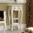 Royce End Table Color: White