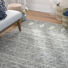Daryl Hand-Knotted Wool Gray Area Rug Rug Size: Rectangle 3'6