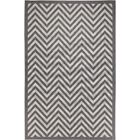 Egremt Chevron Light Gray/Anthracite Indoor/Outdoor Area Rug Rug Size: Rectangle 8'10