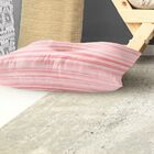 Watercolor Stripe Indoor/Outdoor Floor Pillow Size: 26